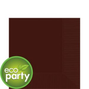 Eco-Friendly Chocolate Brown Lunch Napkins 50ct