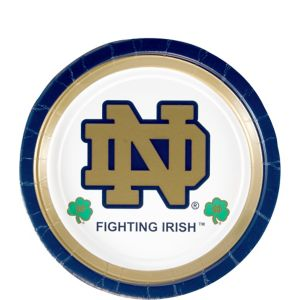 Notre Dame Fighting Irish Dessert Plates 8ct