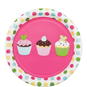 Cupcake Party Dessert Plates 8ct