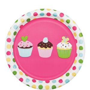 Cupcake Party Dessert Plates 8ct