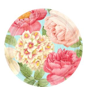 Blissful Blooms Dessert Plates 7in 18ct