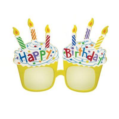 Cupcake Fun Happy Birthday Glasses