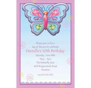 Custom Fluttering Butterfly Invitations