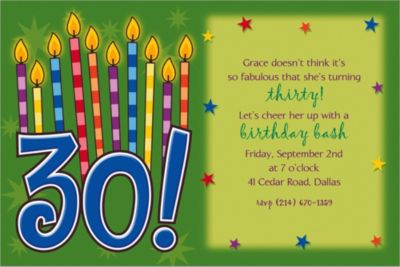 Custom Great Birthday 30th Birthday Invitations
