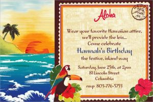 Custom Hawaiian Luau Invitations