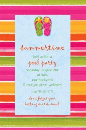 Custom Flip Out Summer Invitations