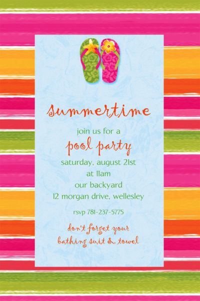 Custom Flip Out Summer Invitations