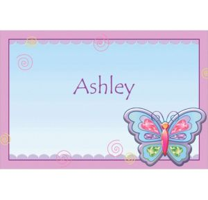 Custom Fluttering Butterfly Thank You Notes