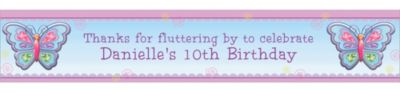 Custom Fluttering Butterfly Banner 6ft