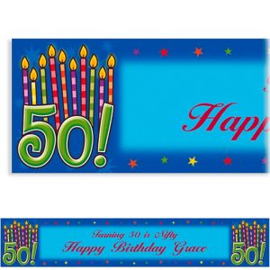 Custom Great Birthday 50th Banner 6ft