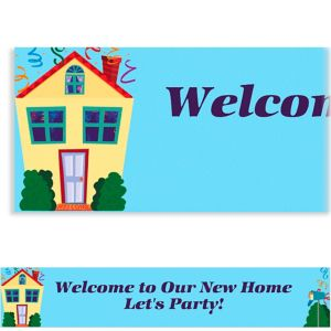 Custom Housewarming Banner 6ft