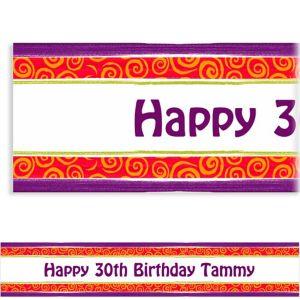 Custom Birthday Cumpleanos Banner 6ft