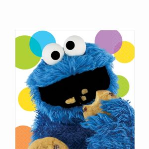 Sesame Street Cookie Monster Lunch Napkins 16ct