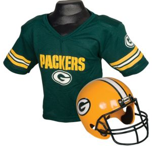Child Green Bay Packers Helmet & Jersey Set