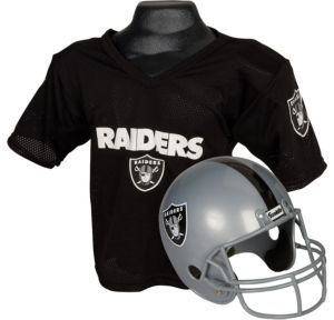 Child Oakland Raiders Helmet & Jersey Set