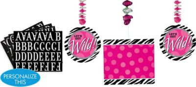 Personalized Danglers 3ct - Zebra Party