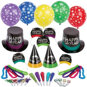 Kit For 50 - Simply Stated - New Year's Party Kit with Balloons