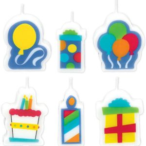 Birthday Fever Fun Birthday Candles 6ct