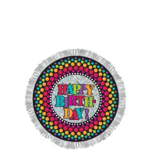 Happy Birthday Button - Rainbow Dot