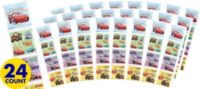 Cars Sticker Square Packets 24ct