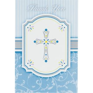Boy's Communion Blessings Thank You Postcards 20ct