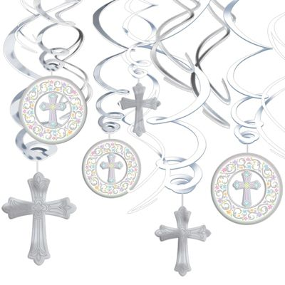 Blessed Day Hanging Swirl Decorations 12ct
