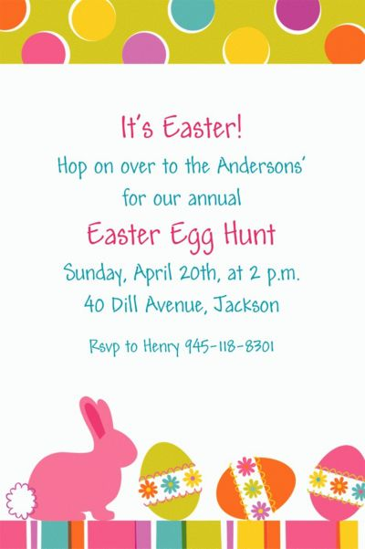 Custom Easter Expressions Invitations