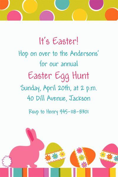 Easter Expressions Custom Invitation