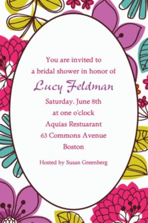 Custom Floral Chic Invitations