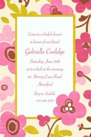 Custom Linen Floral Invitations