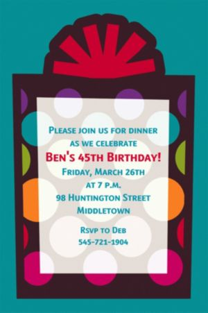 Custom Party On Invitations