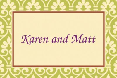 Custom Natural Damask Thank You Notes