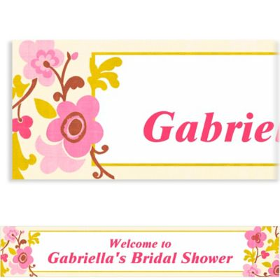 Linen Floral Custom Banner 6ft