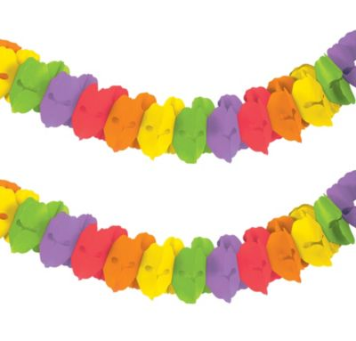 Rainbow Paper Garland 12ft