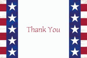Custom Americana Welcome Home Thank You Notes