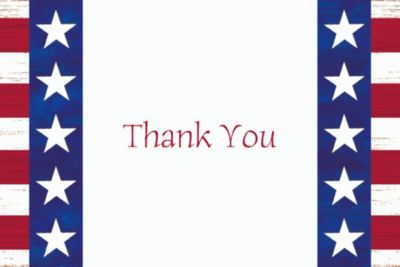 Americana Welcome Home Custom Thank You Note