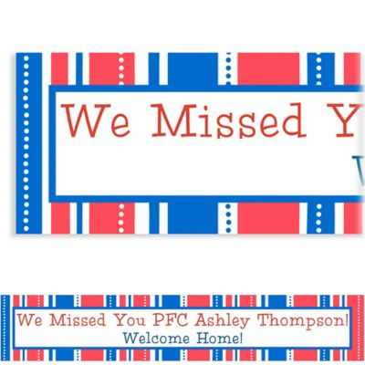 Custom American Summer Stripes Welcome Home Banner 6ft