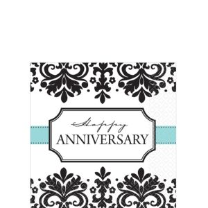 Always & Forever Anniversary Beverage Napkins 16ct