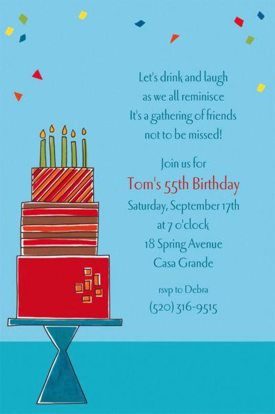 Custom Fetching Birthday Cake Invitations