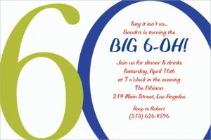 Custom Great Big 60thth Invitations
