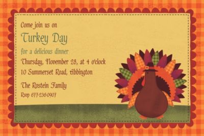Custom Turkey Dinner Invitations