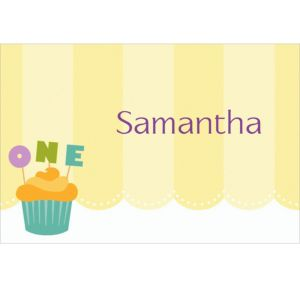 Custom Lined Up Cupcakes Thank You Notes