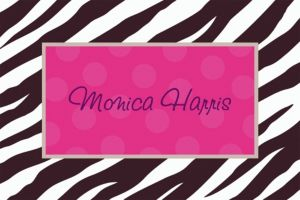 Custom Zebra Party Thank You Notes