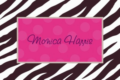Zebra Party Custom Thank You Note