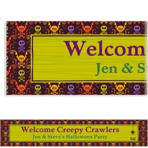Custom Chills & Thrills Halloween Banner 6ft