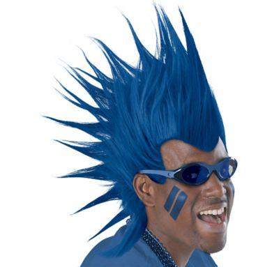 Blue Mohawk Wig