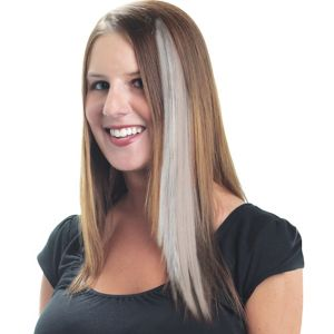 White Hair Extension