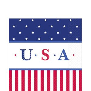 American Classic Patriotic Lunch Napkins 16ct