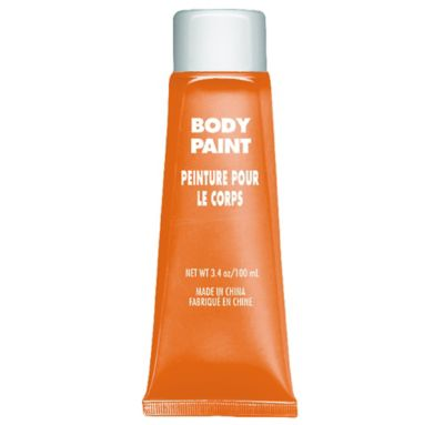 Orange Body Paint