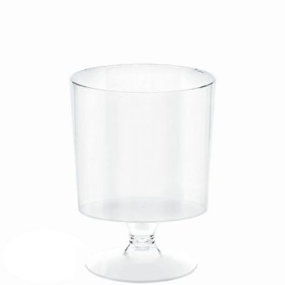 Mini CLEAR Plastic Pedestal Cups 5oz 10ct